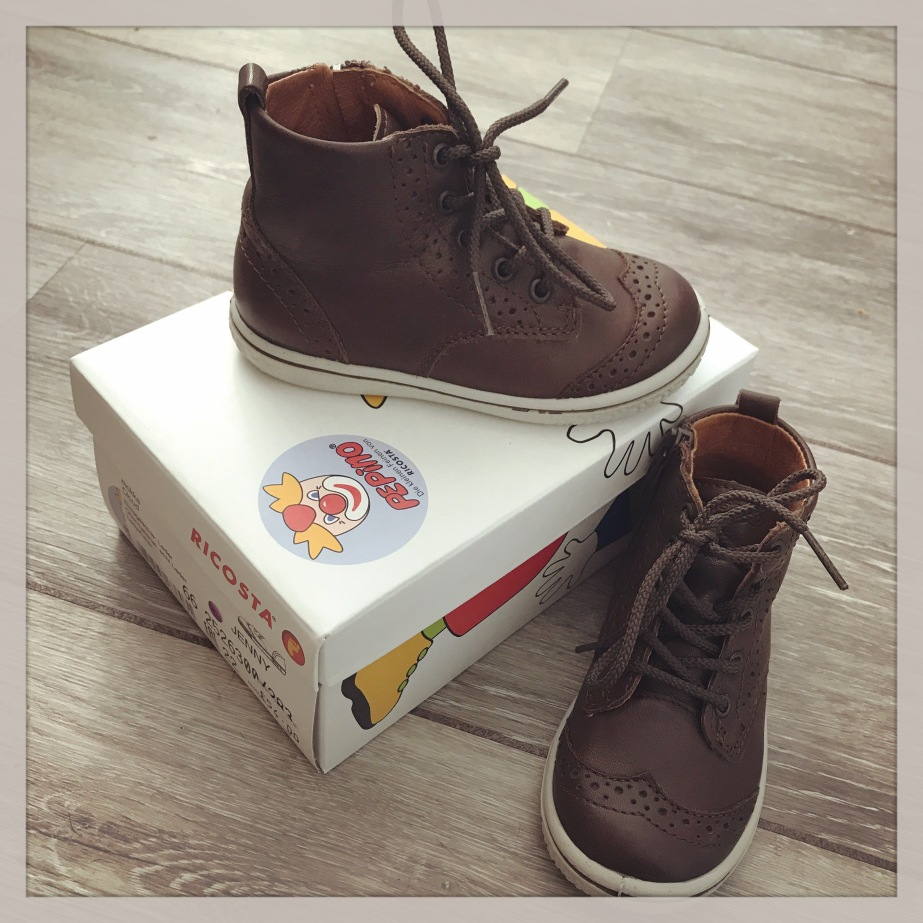 Toddlers first shoes, more expensive than mummy's, ricosta boots