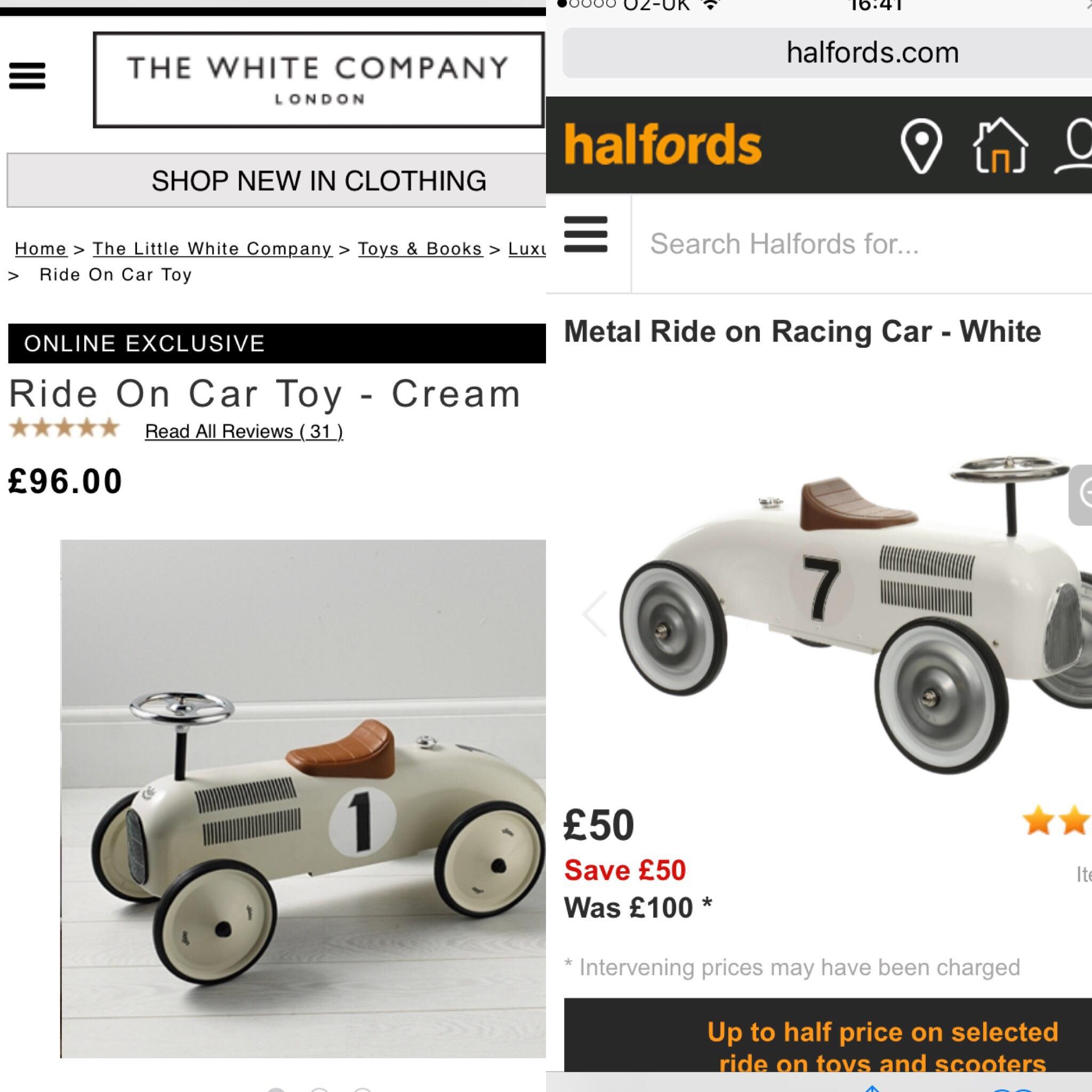 White Company Ride On Car Cheap Toys Kids Toys