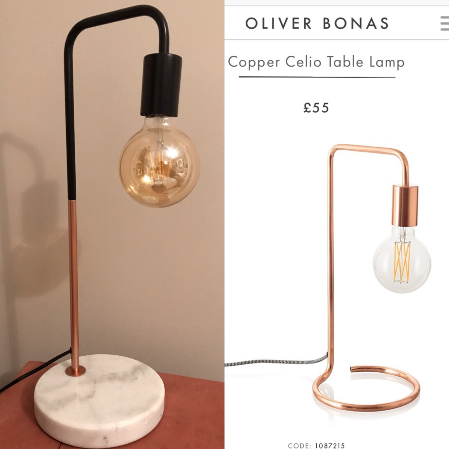 Aldi, special buys, Oliver bonas, copper lamp, marble, interiors, accessories, lighting, bargain