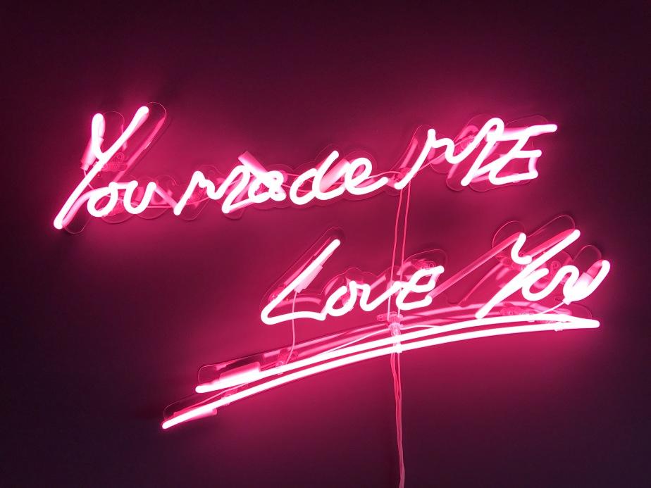Neon sign, neon light, love quote, Tracey Emin copy, farrow & ball down pipe