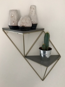 TK Maxx, interesting shelf, Shelfie, geometric shelf, interior accessories