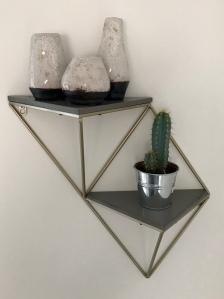 TK Maxx, interesting shelf, Shelfie, geometric shelf, interior accessories