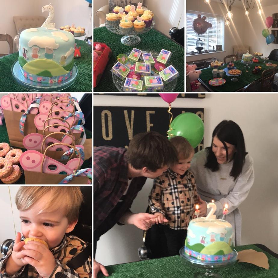 Peppa pig, peppa pig party, peppa pig cake, diy party, 2nd birthday, diy peppa pig
