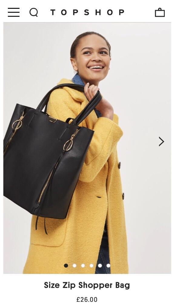 Topshop oversized bag, alternative changing bag, baby bag